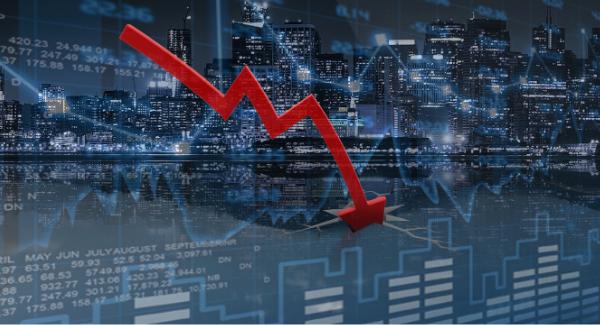 Economic recession illustration